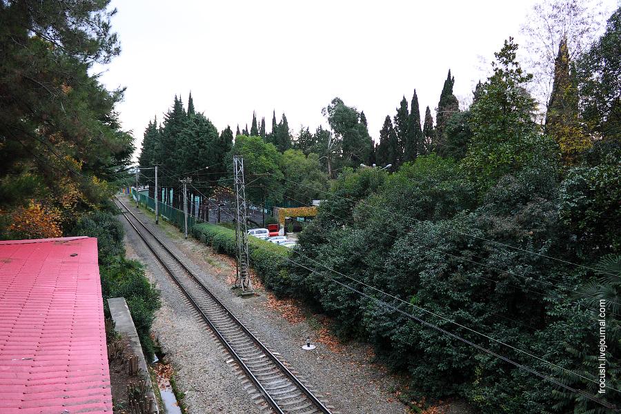 Железная дорога в сторону Адлера