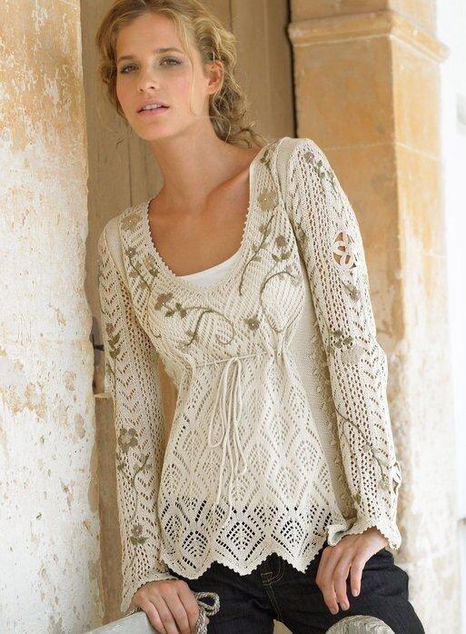 Модное платье-туника связано спицами 4.Схема вязания платья туники.
