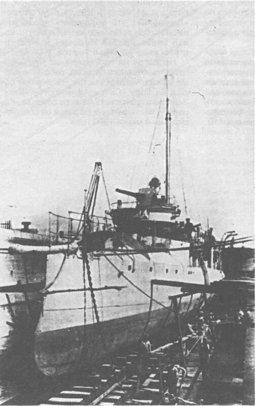 """20 октября 1916 года эскадренный миноносец """"Грозовой"""" потопил ПЛ """"U-56""""."""