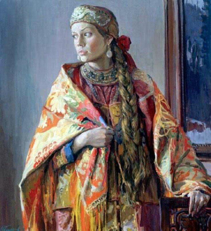 Глазунов И.И.      В каргопольском костюме.jpg