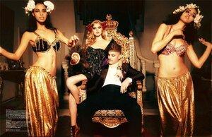 Марина Линчук / Maryna Linchuk by Ellen von Unwerth in Vogue Turkey december 2010