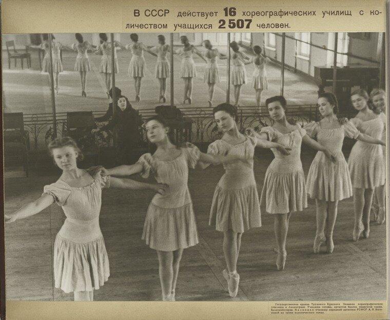 [Dance students with the dancer Vaganova