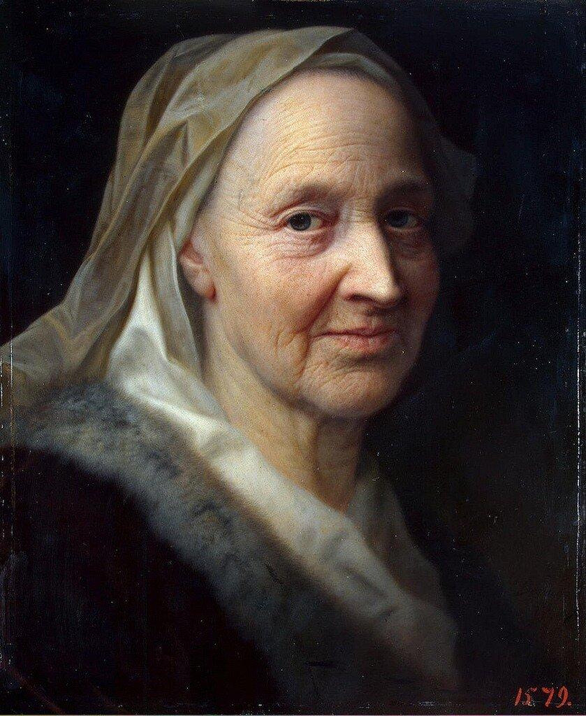 Balthasar Denner.Portrait of an old woman,1720