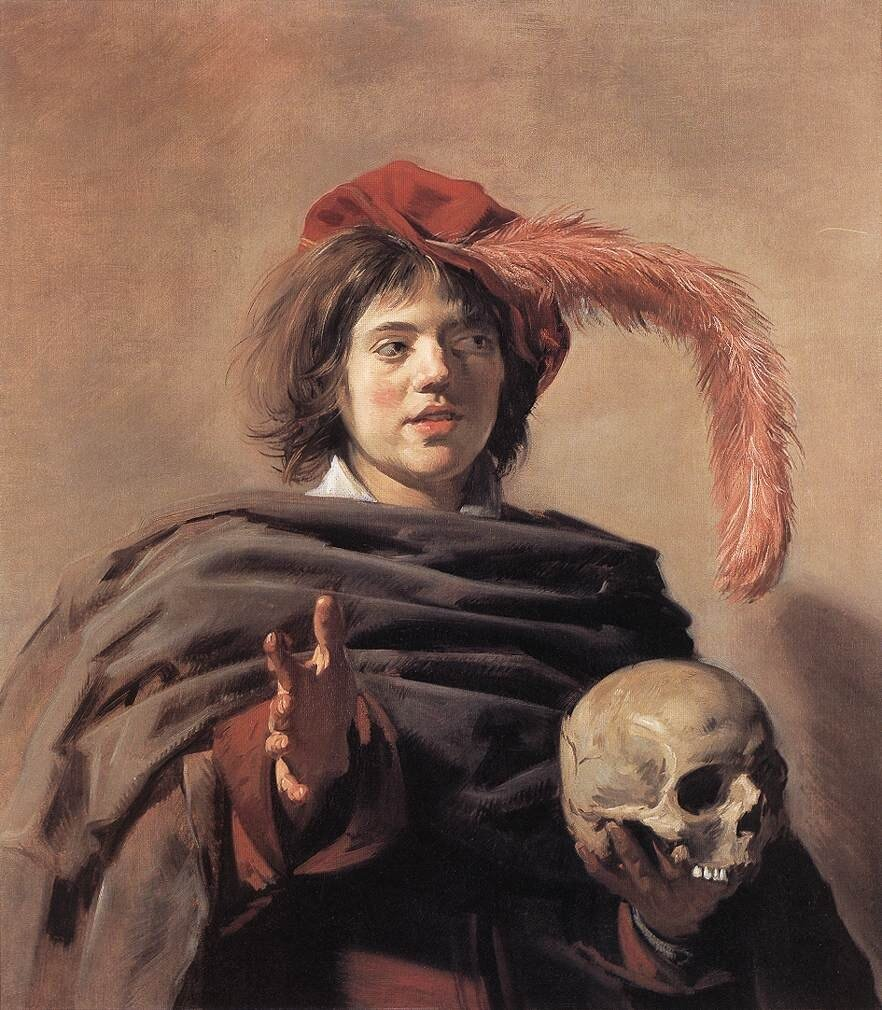 Frans HALS Young Man with a Skull Vanitas