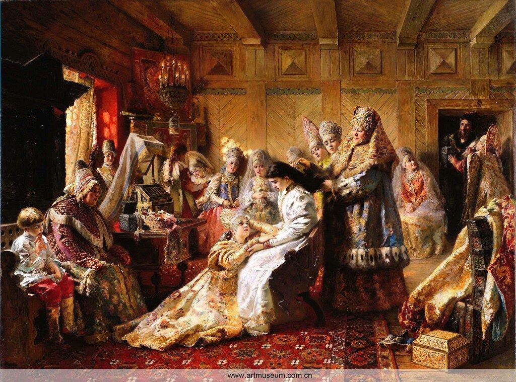 Константин Егорович Маковский, русская невеста