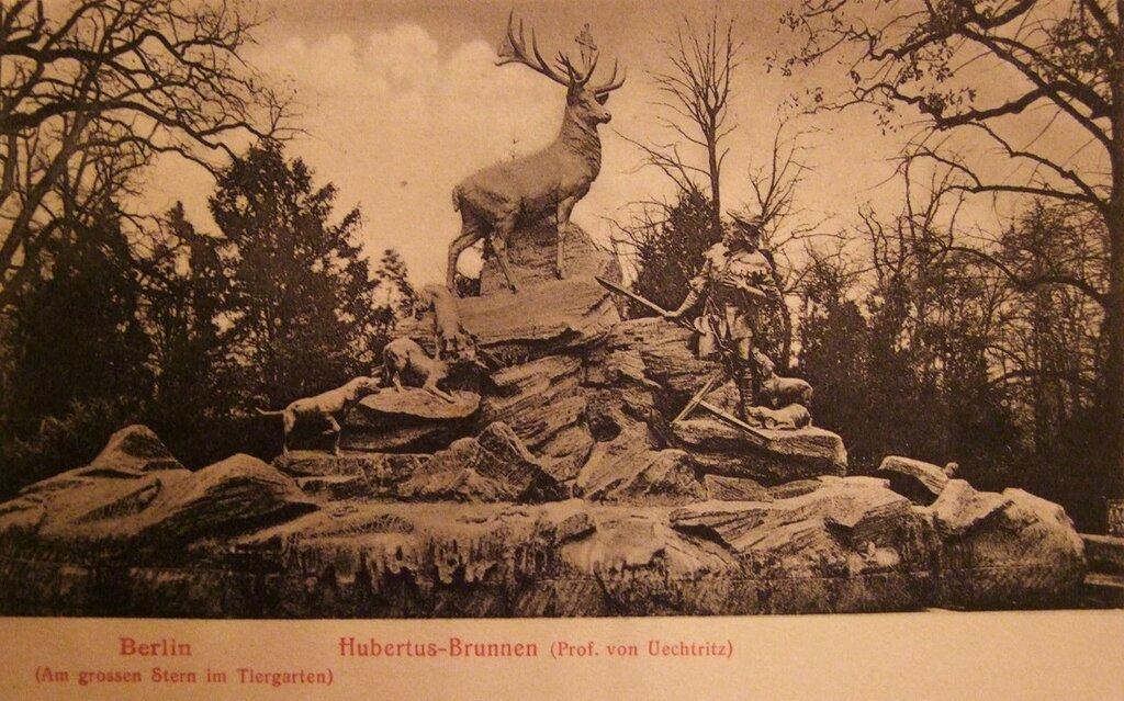 HUBERTUSBRUNNEN (скул.Сuno von Uechtritz-Steinkirch)