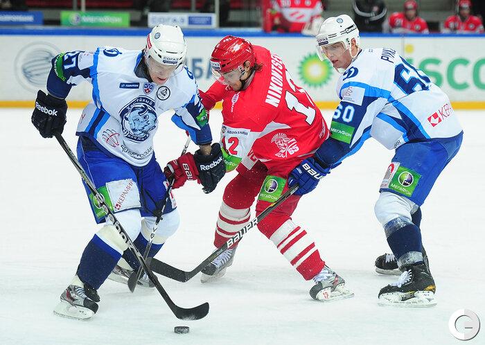 «Спартак» vs «Динамо» Мн 5:2 чемпионат КХЛ 2011-2012 (Фото)