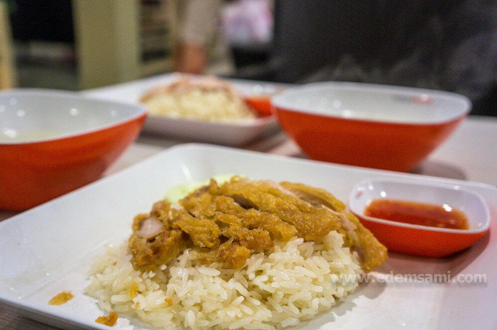 Рис с жареной курицей