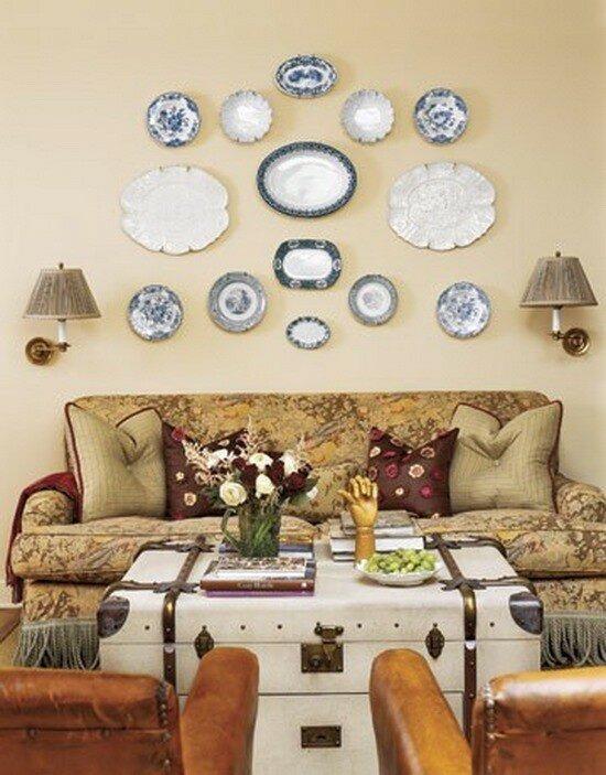 Как украсить стены декоративными тарелками (фото с идеями)
