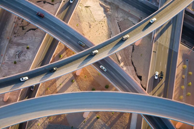 5. Над дорогами, Альбукерке, Нью-Мексико, США, 2008 г. (Alex MacLean / Beetles+Huxley)