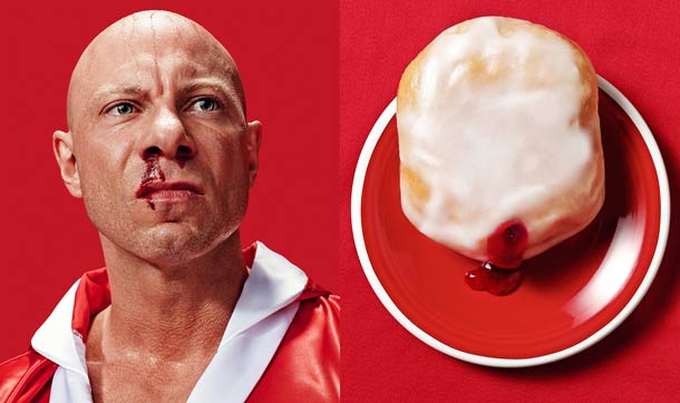 Donut Doubles – Portraits of people associated with donuts which look like them…