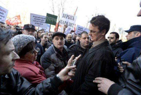 Сербия, министр просвещения, протест, Белград
