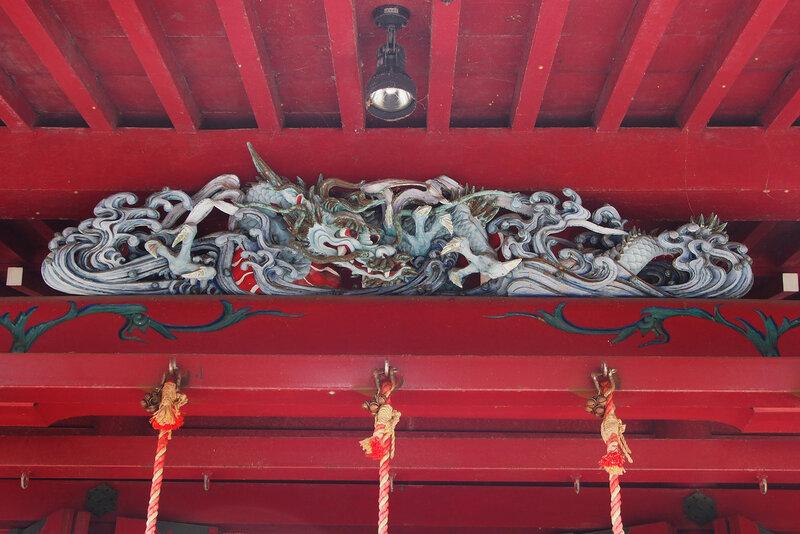 Храм (детали). Синтоистское святилище Хаконе-дзиндзя