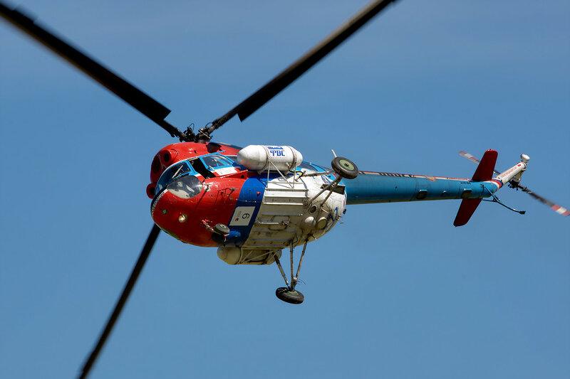 Высший пилотаж на вертолёте Ми-2