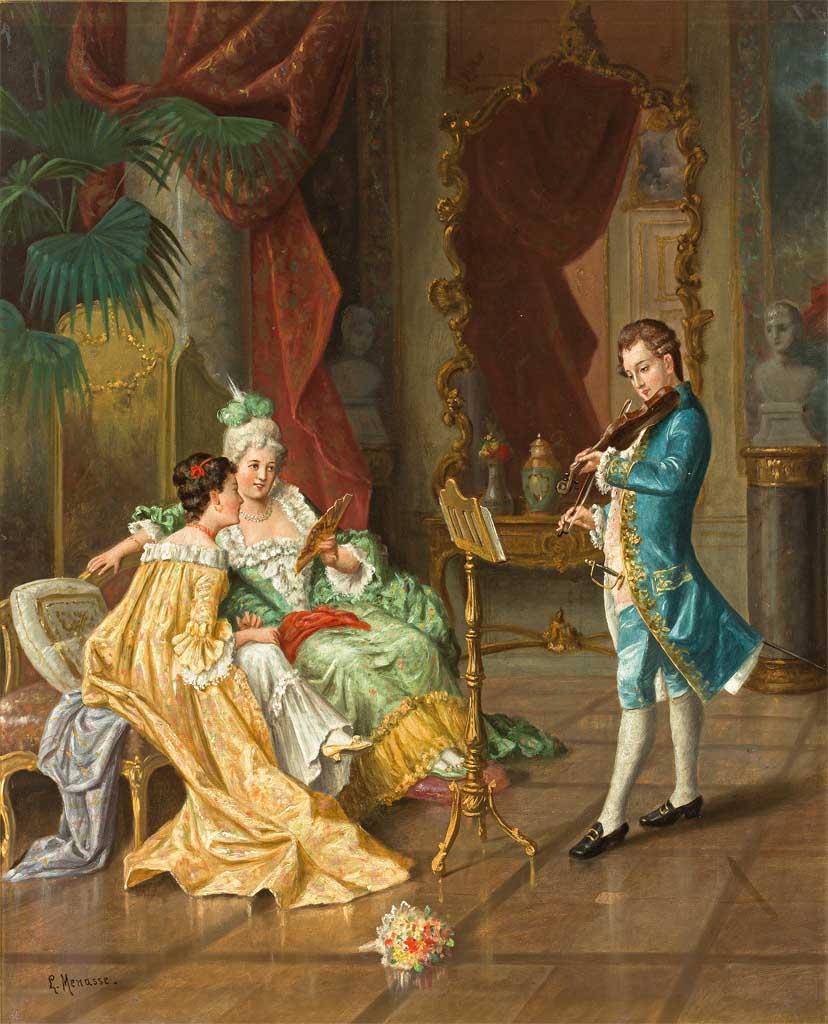 L. Menasse. Maler Ende 19. Jh.
