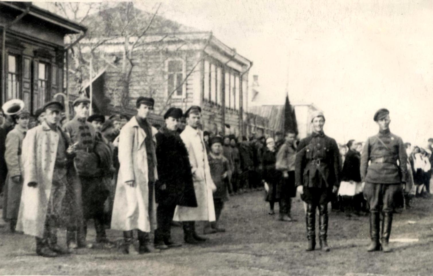 1923. Демонстрация молодежи к 5-летию РКСМ