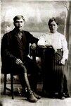 прадед Ильи - Кобенко Николай Иванович с женой (20-е г.г.)