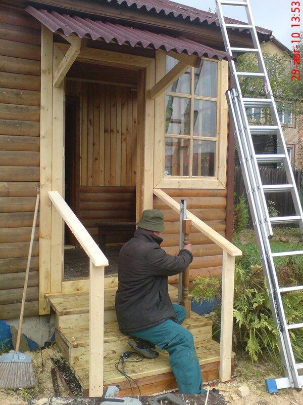 Как построить козырек над крыльцом на даче
