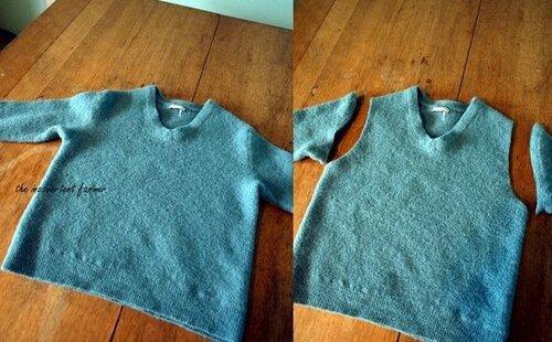 Сумка из старого свитера.  Вторая жизнь старых вещей.