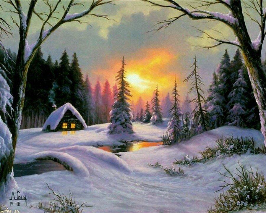 Постарайся, чтоб красиво Домик снегом заносило.