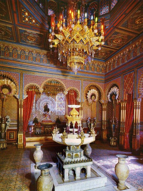 Мавританский киоск в парке дворца Линдерхоф