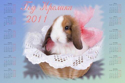 Календарь 2011 - Кролик