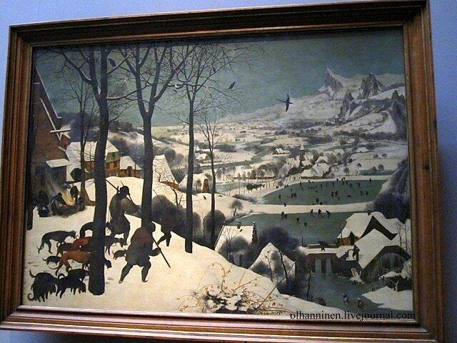 Pieter_Bruegel The_Hunters_in_the_Snow 1565 Vienna Austria Kunsthistorisches_Museum