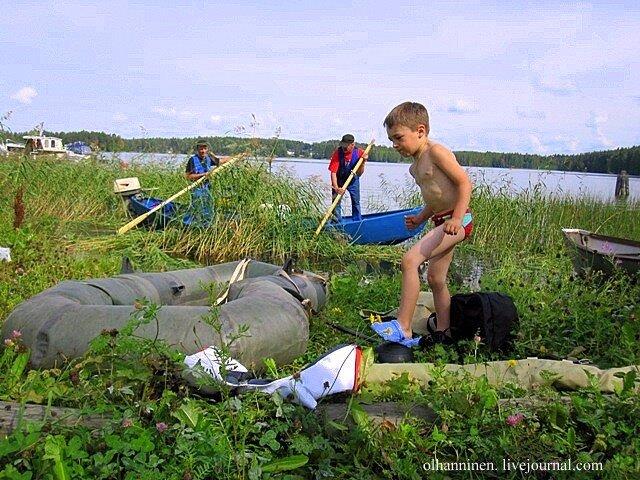 озеро Уннукка чистка осока сорняки мусор лодка экология