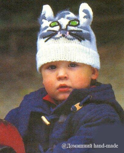 Рхема спицами шапка... детские вязаные шапки. детская шапка спицами.