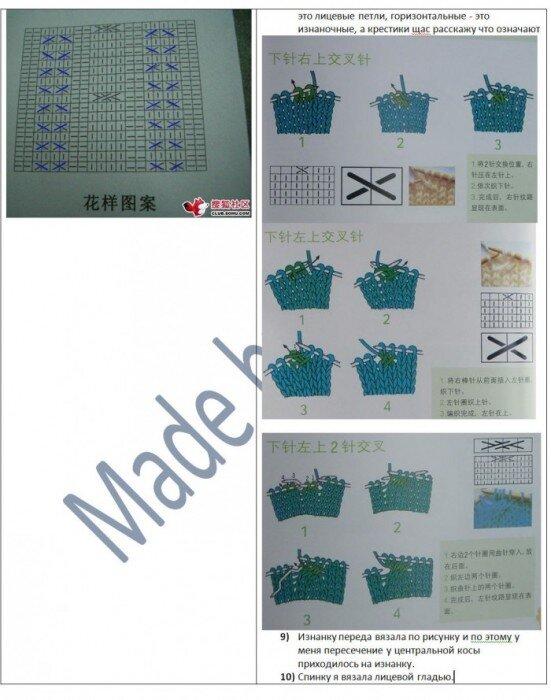 Схема вязания чехла для