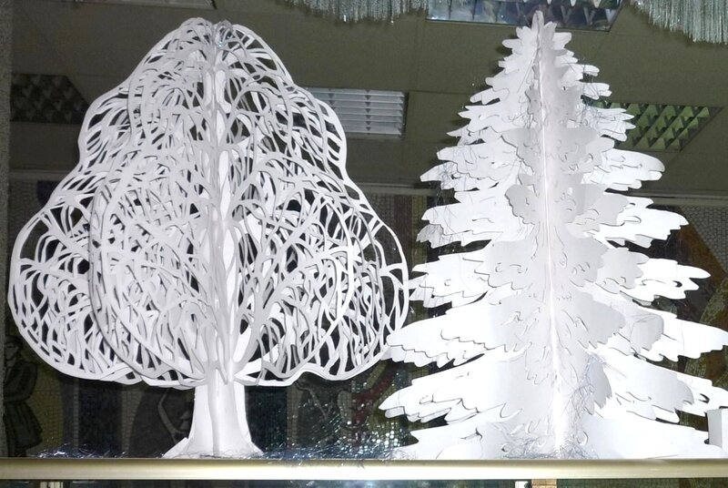 Зимние деревья своими руками фото