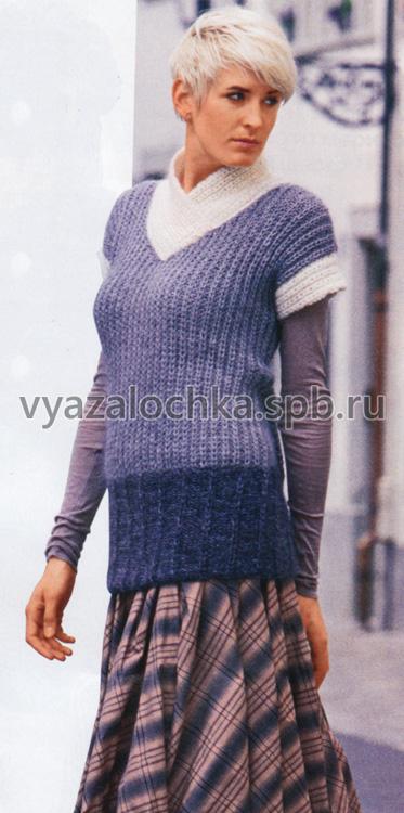 Пуловер в серых тонах
