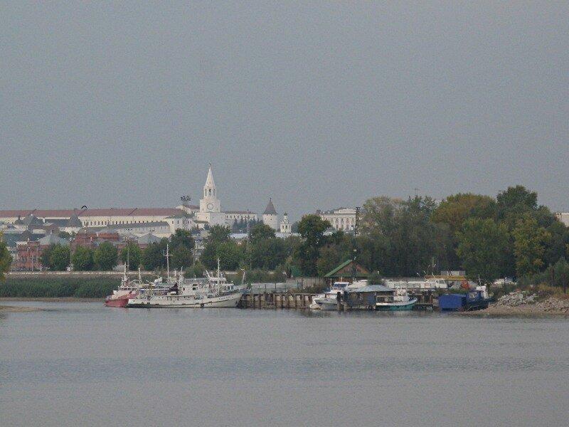Казань, Речной вокзал. Теплоход