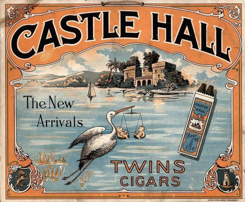 vintage labels cigars.Старинные этикетки для сигар