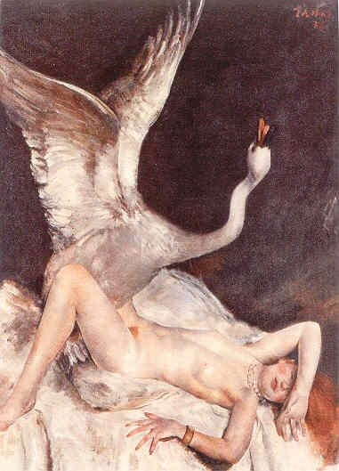 Leda with the Swan Nicholas Kalmakoff