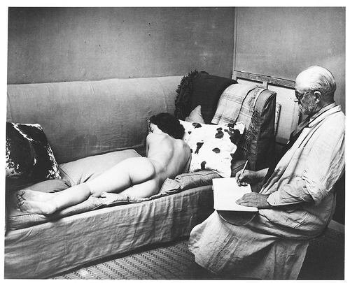 Brassai, Matisse Drawing a Nude Model, 1939.