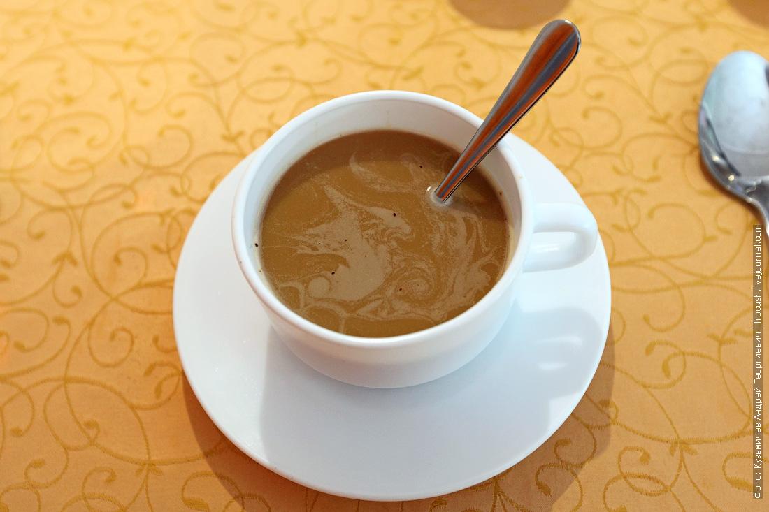 меню ресторана теплохода Русь Великая Кофе