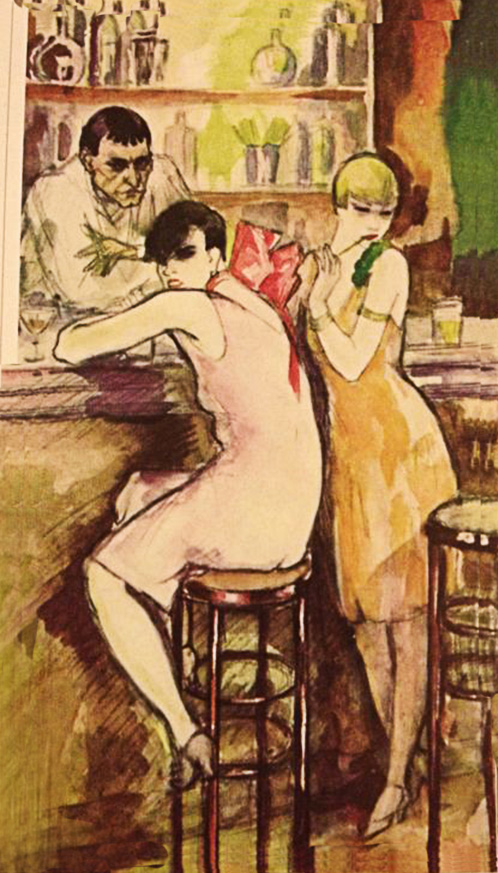 At the Bar (Salvation Army Girls), 1926 Jeanne Mammen(1890-1976);