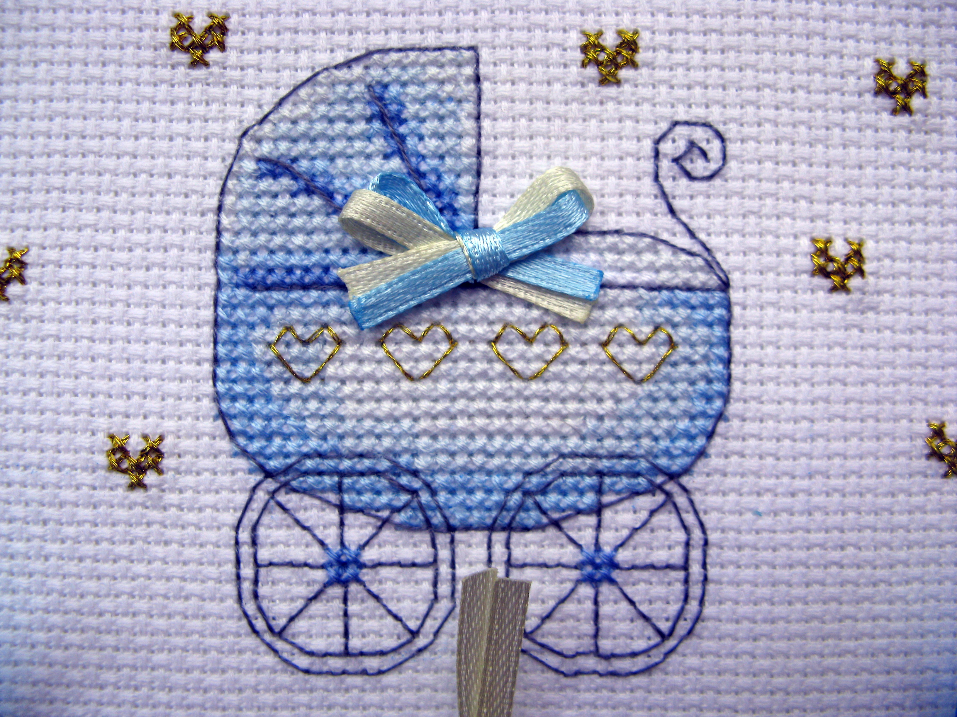Схемы вышивок колясок