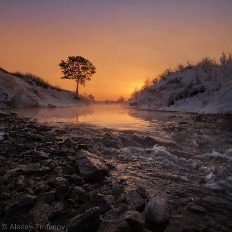 Январь. Холодный поток