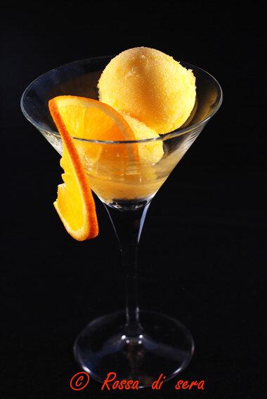 sorbetto di arancia