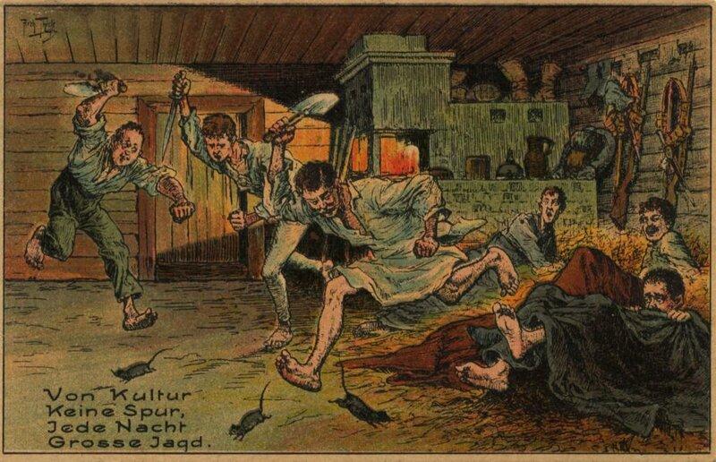 Антирусские немецкие открытки времен Первой мировой