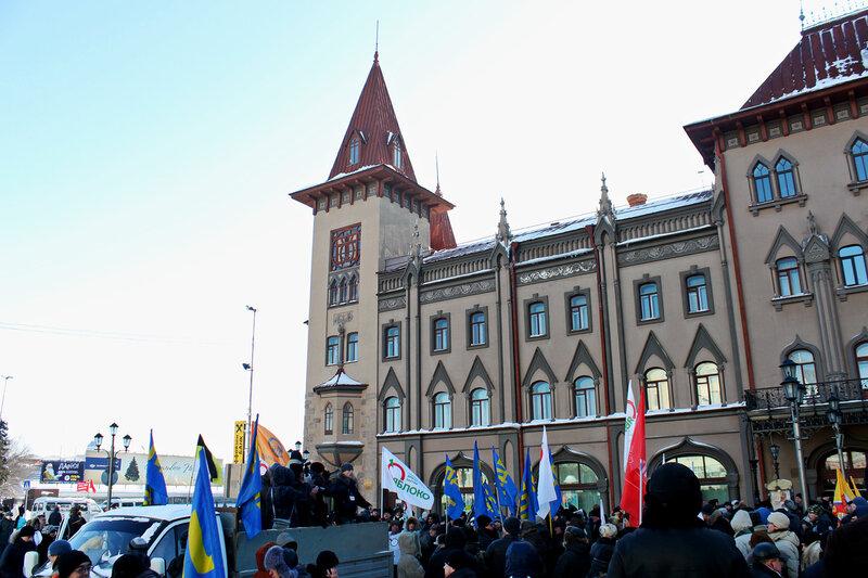 Митинг 'За честные выборы',  площадь у консерватории, Саратов, 04 февраля 2012 года