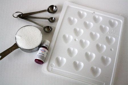 Сахар в форме сердца