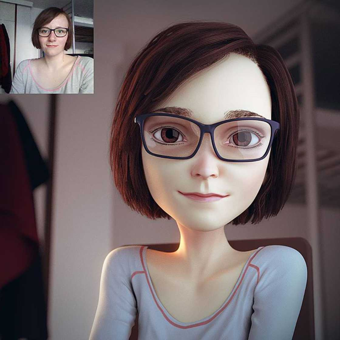 Il transforme les photos de profil en superbes portraits 3D