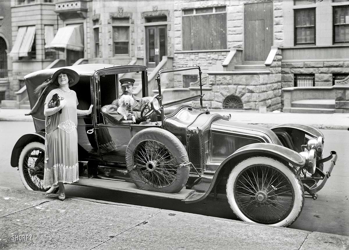 Автомобили и девушки начала 20-го века на снимках американских фотографов (9)