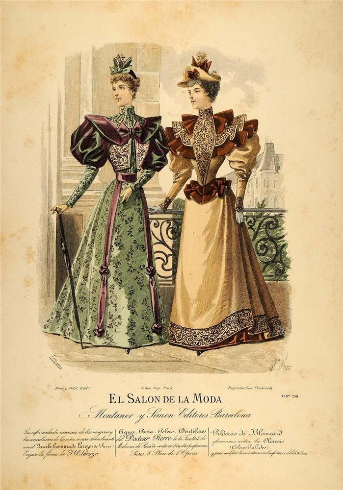 Викторианская мода., винтажная мода