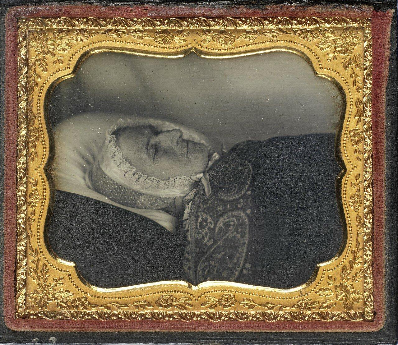 1850. Посмертный портрет старой женщины