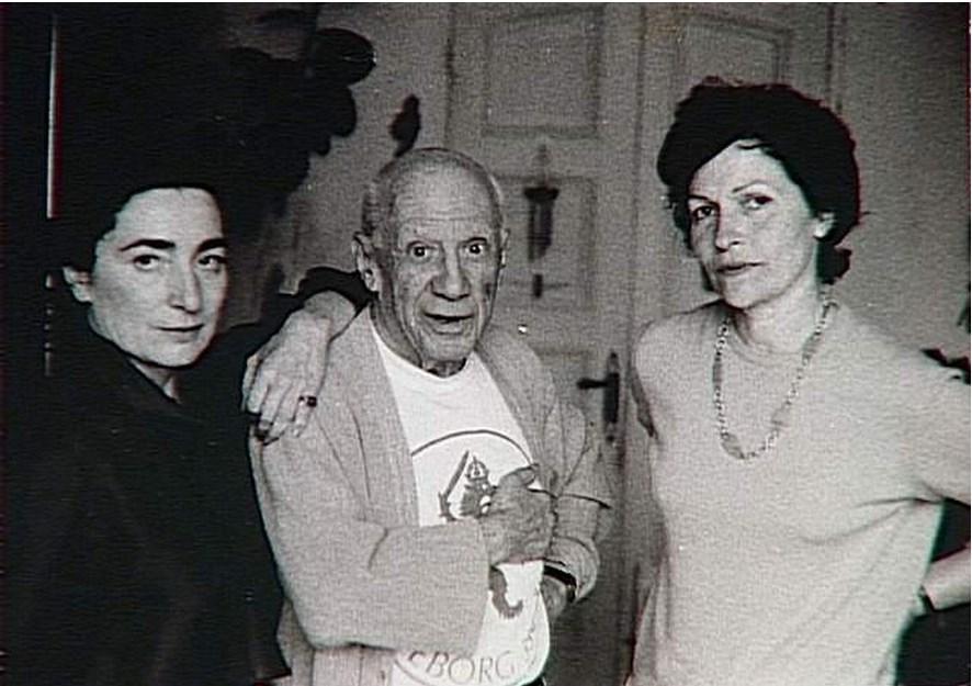 Жаклин Пикассо и Жильберта Брассай