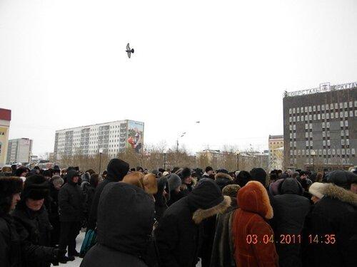 Митинг Воркута 3 апреля 2011год